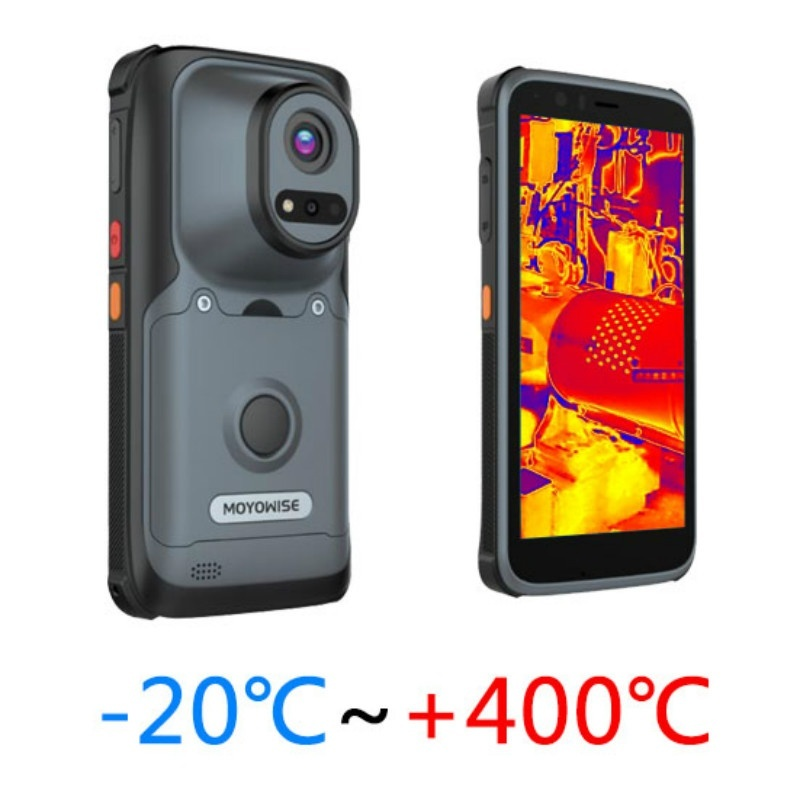 Portable thermal imaging temperature measurement device